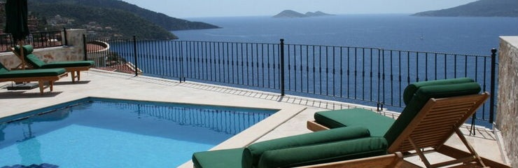 Kalkan'da Kiralık Havuzlu Villa